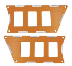 Modquad Switch Plate 6 Slot, Orange