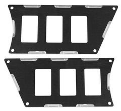Modquad Switch Plate 6 Slot, Black
