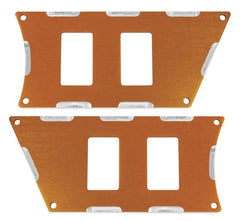 Modquad Switch Plate 4 Slot, Orange