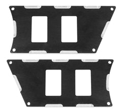 Modquad Switch Plate 4 Slot, Black