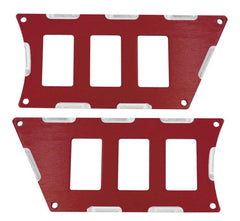 Modquad Switch Plate 6 Slot, Red