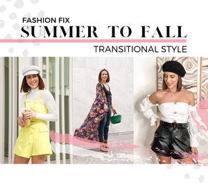 Transition Your summer Wardrobe Staples To Fall