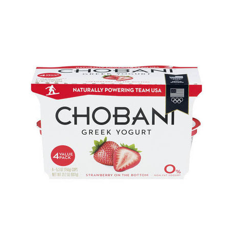 Chobani Strawberry Greek Yogurt   4pk
