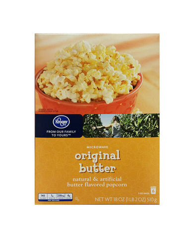 Kroger Original Butter Popcorn   6ct