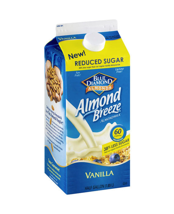Blue Diamond Almond Breeze Vanilla Reduced Sugar Almond Milk