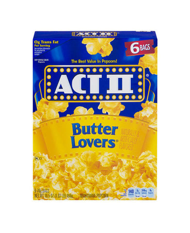 Act II Butter Lovers   6ct