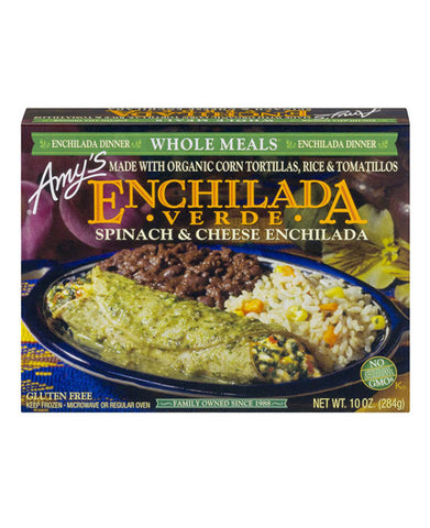 Amy's Enchilada Verde Spinach & Cheese