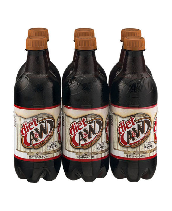 A&W Diet Root Beer (6pk Bottle)