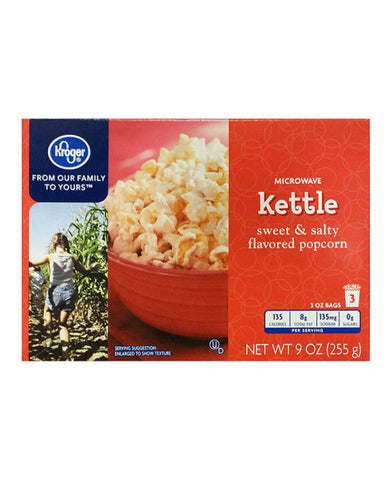 Kroger Kettle Popcorn   3ct