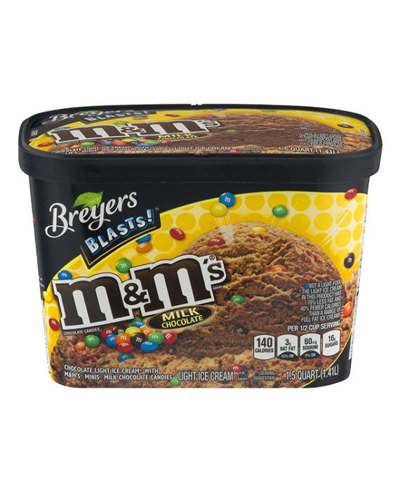 Breyers M&M's Milk Chocolate Ice Cream