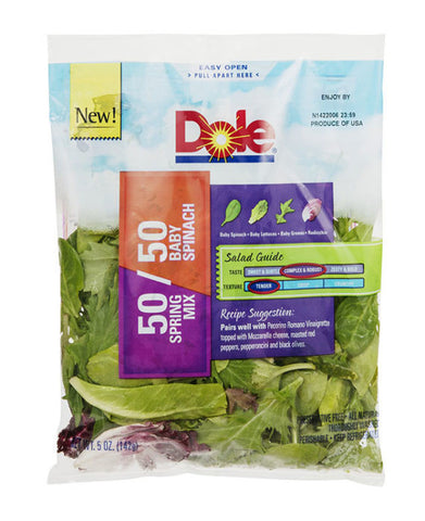 Dole 50/50 Spring Mix + Baby Spinach Salad