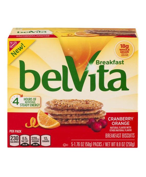 belVita Breakfast Biscuits Cranberry Orange