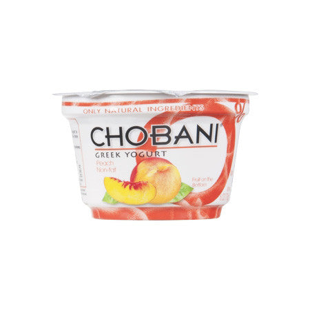 Chobani Peach Greek Yogurt