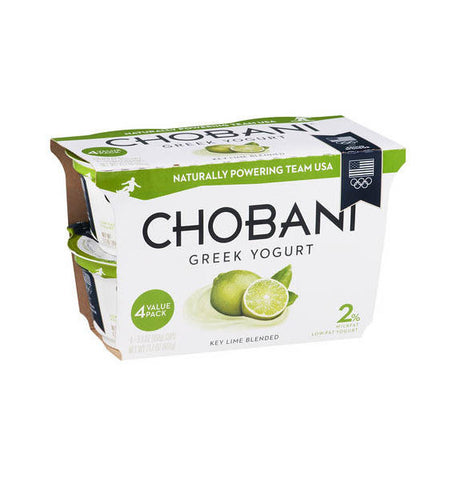 Chobani Key Lime Greek Yogurt   4pk