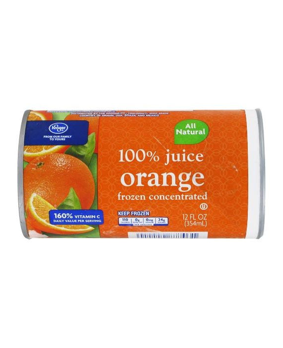 Kroger Frozen Orange Juice All Natural