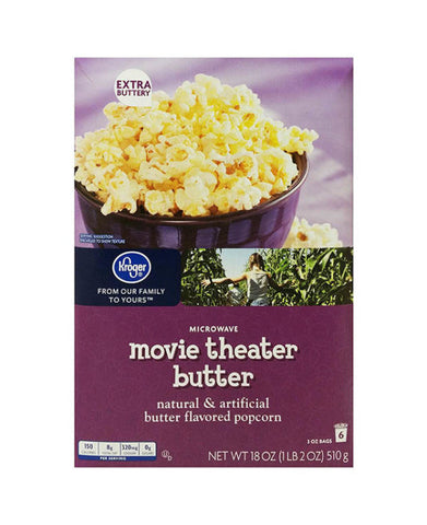 Kroger Ultimate Movie Theater Popcorn   6ct