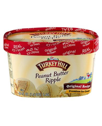 Turkey Hill Peanut Butter Ripple Ice Cream