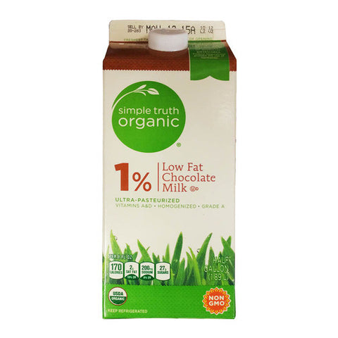 Simple Truth Organic 1% Low Fat Chocolate Milk   0.5 gal