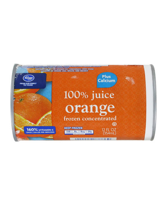 Kroger Frozen Orange Juice Plus Calcium