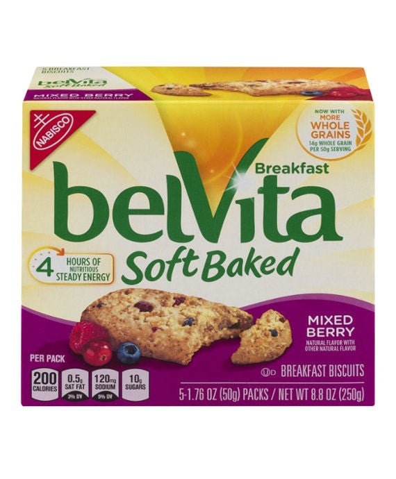 belVita Breakfast Biscuits Soft Baked Mixed Berry