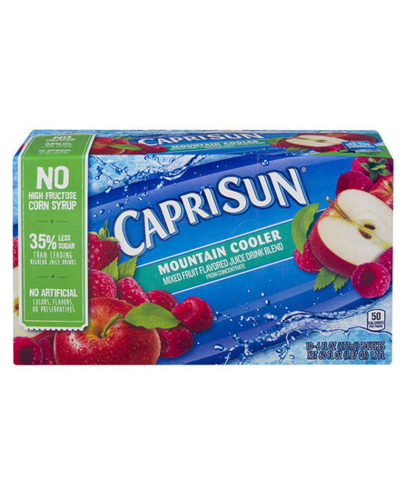 Capri Sun Juice Pouches Mountain Cooler