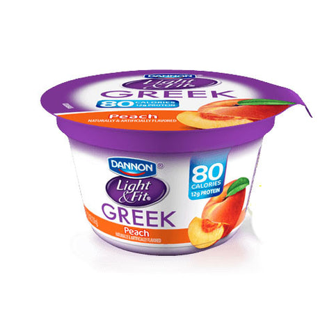 Dannon Light & Fit Nonfat Peach Greek Yogurt