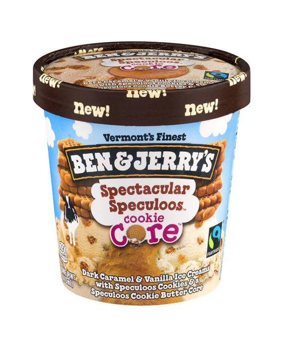 Ben & Jerry's Spectacular Speculoos Cookie Core Ice Cream