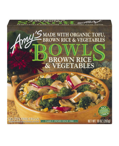 Amy's Brown Rice & Vegetables Bowl