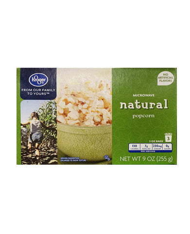 Kroger Natural Popcorn   3ct