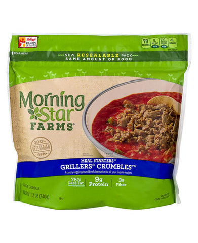 Morning Star Farms Meal Starters Grillers Crumbles