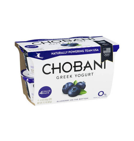 Chobani Blueberry Greek Yogurt   4pk