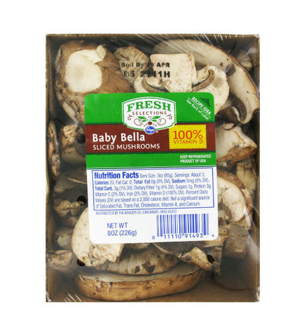 Fresh Selection Sliced Baby Bella Mushroom