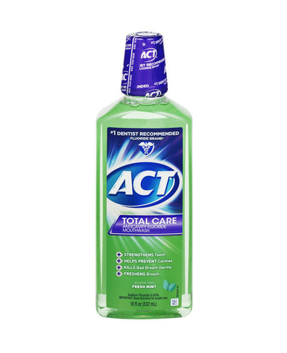 ACT Total Care Fresh Mint Anticavity Fluoride Mouthwash