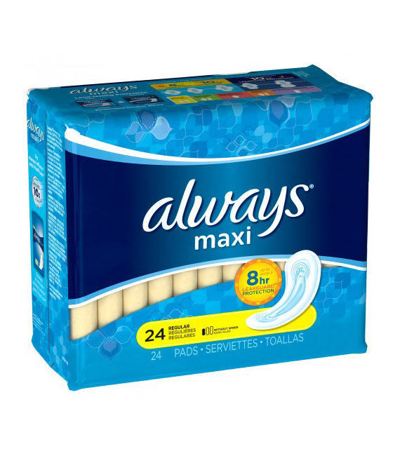Always Maxi Regular Pads without Wings (24ct)
