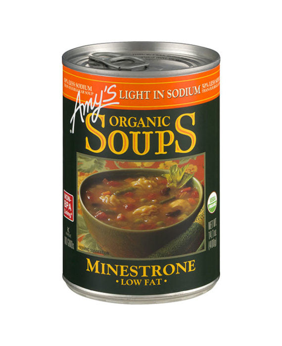 Amy's Organic Light in Sodium Low Fat Minestrone Soup