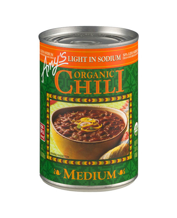 Amy's Organic Medium Chili Light in Sodium