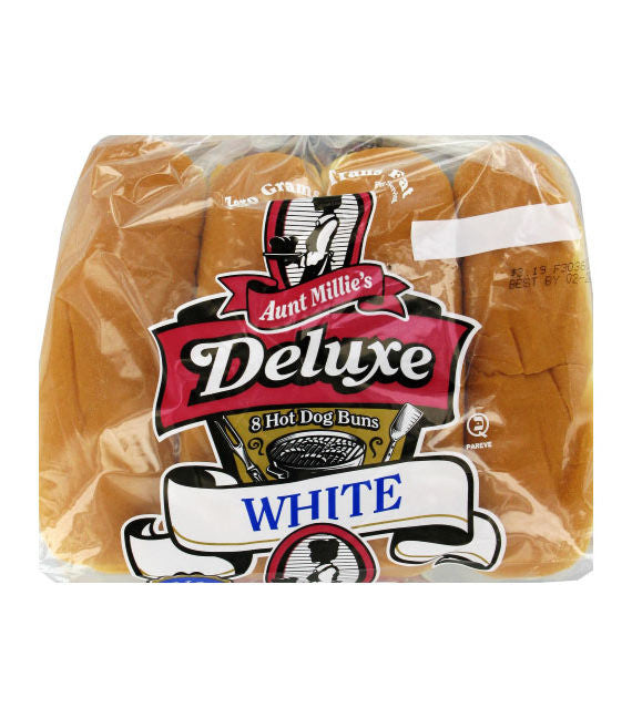 Aunt Millie's Deluxe White Hot Dog Buns
