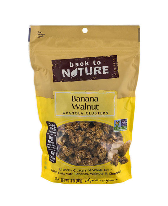 Back to Nature Banana Walnut Granola Cluster