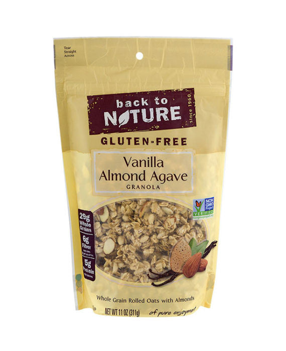 Back to Nature Gluten Free Vanilla Almond Agave Granola