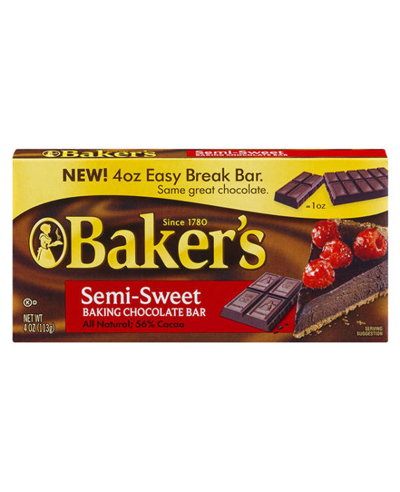Baker's Semi-Sweet Baking Chocolate Bar
