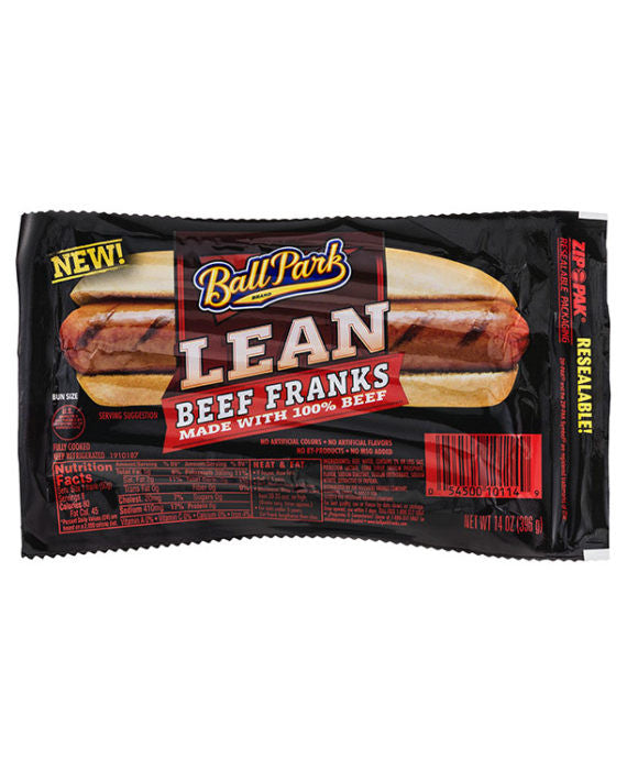 Ball Park Lean Beef Franks 100% Beef