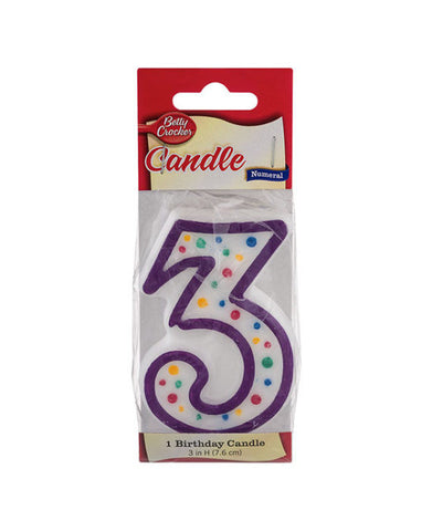 Betty Crocker Birthday Candle #3