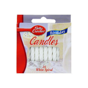 Betty Crocker White Spiral Birthday Candles