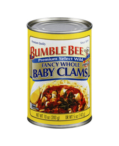 Bumble Bee Premium Whole Baby Clams