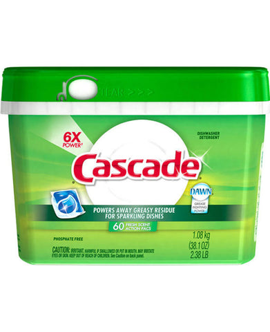 Cascade Action Pacs Detergent Fresh Scent (60ct)