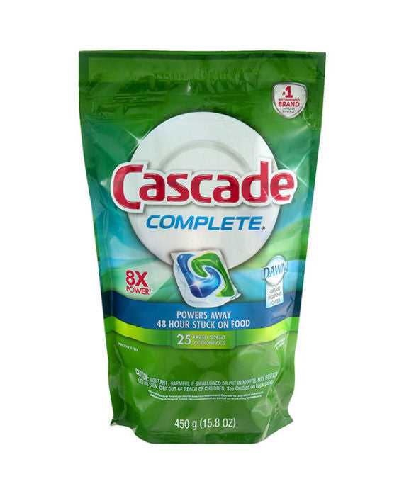 Cascade Complete Action Pacs Fresh Scent (25ct)