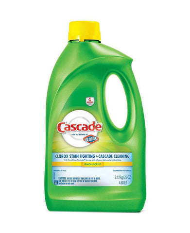 Cascade Dishwasher Detergent with Clorox Lemon Scent
