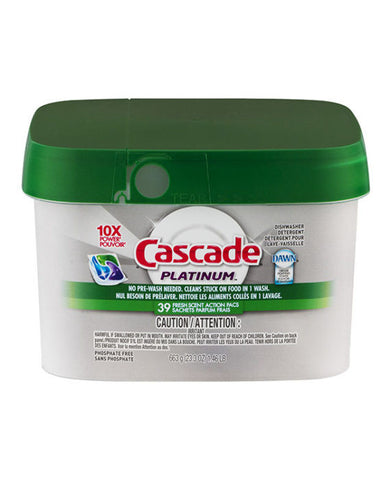 Cascade Platinum Dishwasher Detergent Fresh Scent Action Pacs (39ct)