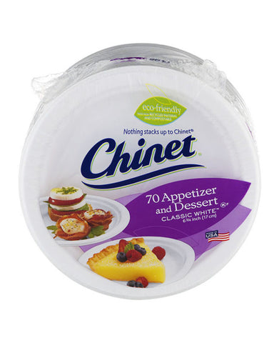 Chinet Appetizer and Dessert Plates (70ct)