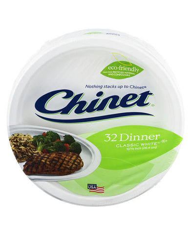 Chinet Classic White Dinner Plates (32ct)